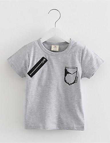 Tee-shirts Garçon Décontracté / Quotidien Imprimé Coton Eté Manches Courtes Normal