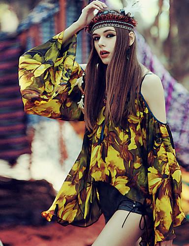 Aporia.As® Damen Rundhalsausschnitt 1/2 Länge Ärmel Shirt & Bluse Multi-MZ10004