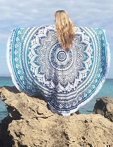 Dame Boheme Strandhåndklæde - Geometrisk, Trykt mønster / Bomuld