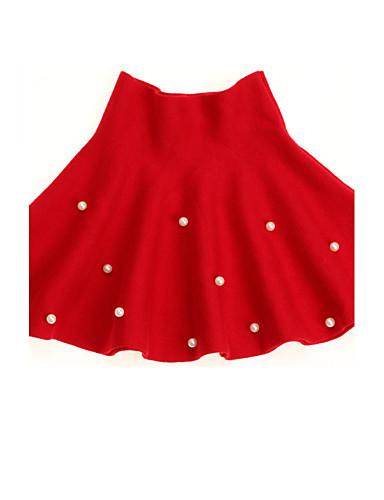 שמלה צמר חורף אביב סתיו יומי מנוקד הילדה של נקודה אדום
