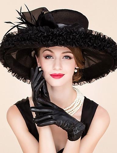 billige Hatte & Imponeringer-fjær organza fascinators hatter headpiece klassisk feminin stil