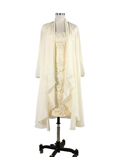 abordables Boléros de Mariage-Manches Longues Mousseline de soie Mariage / Soirée Etoles de Femme Avec Drapée Manteaux / Vestes