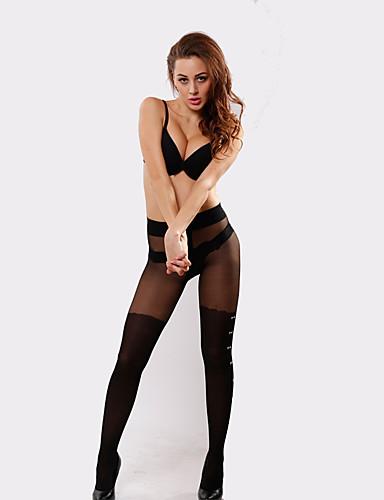 BONAS® Couleur unie Mince Legging-6528