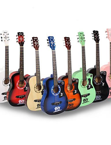 povoljno Žičani instrumenti-profesionalac Gitara 38 Inch Gitara Drvo Šarene / za početnike Glazbena oprema Instrument