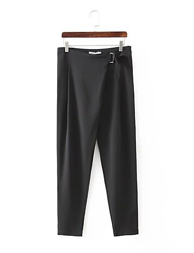 Damer Mikroelastisk Harem Jeans Bukser,Højtaljede Ensfarvet Trykt mønster