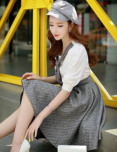 dabuwawa vrouwen uitgaan / party / cocktail / vakantie vintage / punk& gothic / geavanceerde een lijn / mantel / schaatser dress