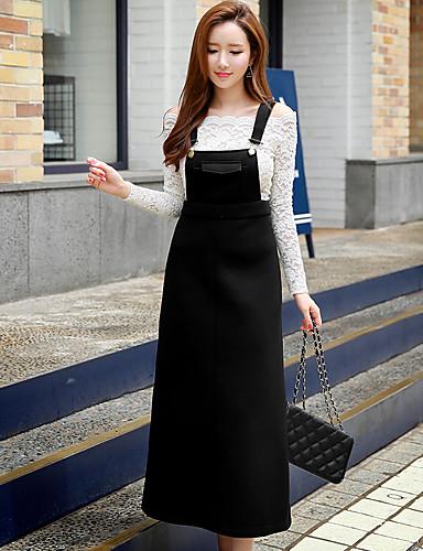 dabuwawa vrouwen uitgaan / casual / vintage / leuke / geavanceerde een lijn / shift jurk, stevige riem mouwloze