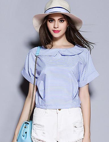 sybel kvinders gå ud / sød sommer t-shirt flipperne kortærmet blå polyester medium