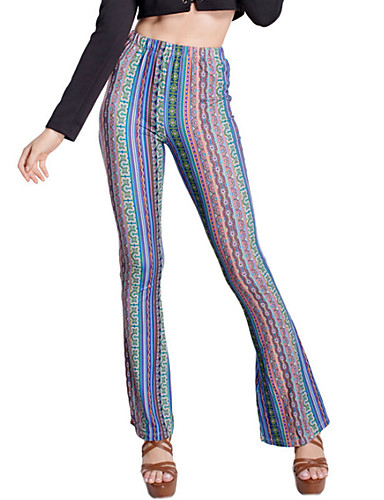 Dame Trykt mønster Blondeapplikation Legging Nylon Onesize passer S-M. Se venligst størrelsestabellen nedenfor.,