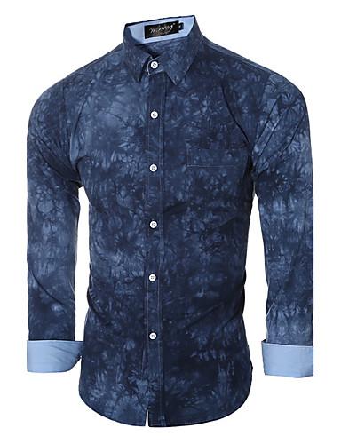 Herre Trykt mønster Skjorte Bomuld
