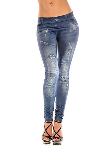 Vrouw Denim Legging,Polyester