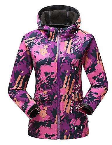Dame Simpel / Aktiv Plusstørrelser / Casual/hverdag / Sport Normal Hættetrøjer camouflage,Blå / Rød / Orange Hætte Langærmet Polyester