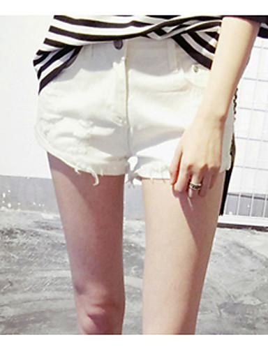 Kvinders Simpel Jeans Bukser Uelastisk Bomuld