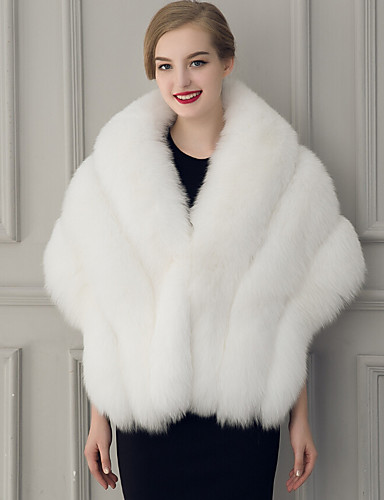a6316e20d8 Sleeveless Faux Fur Wedding / Party Evening Women's Wrap With Feathers / Fur  Capelets