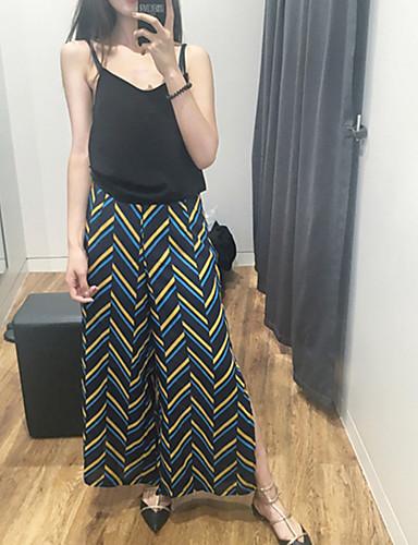 Kvinders Simpel Bredt Bukseben Bukser Mikroelastisk Polyester / Nylon