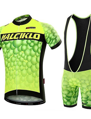 cheap Cycling Clothing-Malciklo Men's Short Sleeve Cycling Jersey with Bib Shorts - White Black Bike Clothing Suit Breathable 3D Pad Quick Dry Back Pocket Sports Coolmax® Lycra Bubble Mountain Bike MTB Road Bike Cycling