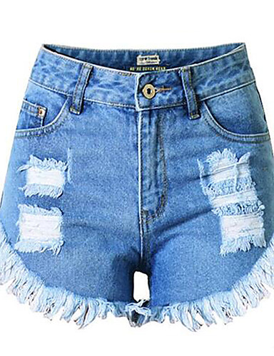 Dame Gatemote Store størrelser Jeans Bukser Ensfarget