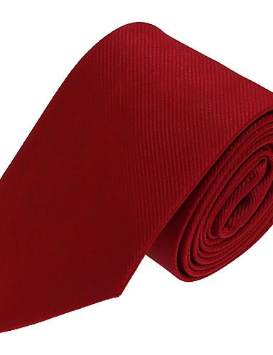Masculino Gravata Vermelho,Vintage / Festa / Trabalho / Casual Cor Única Poliéster Todas as Estações