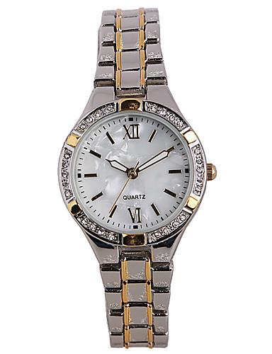 Mulheres Relógio de Moda Simulado Diamante Relógio Quartzo / imitação de diamante Lega Banda Casual Prata Prata