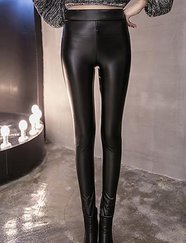 Dame Simple Skinny Jeans Bukser Ensfarvet