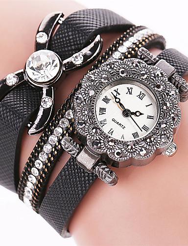 Damen Armband-Uhr Schlussverkauf / Cool / / PU Band Freizeit / Modisch Schwarz / Weiß / Blau