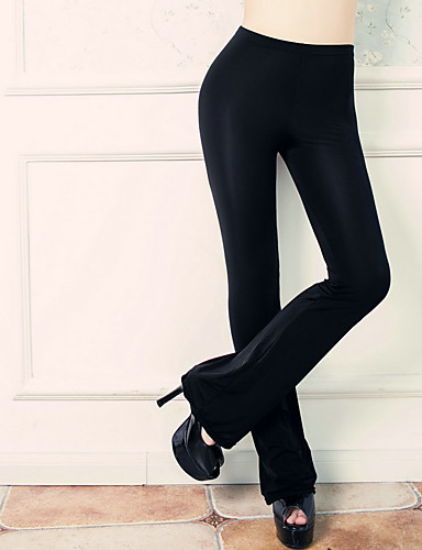 Dames Effen Nylon Effen kleur Legging,Wit Zwart