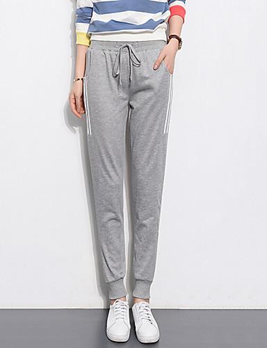 Dames Actief Hoge taille Micro-elastisch Jeans Broek Gestreept