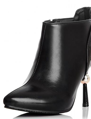 Hæle-Syntetisk laklæder Kunstlæder-Combat-støvler Cowboystøvler Snowboots Ankelstøvler Ridestøvler Modestøvler Motorcykelstøvler-Dame-