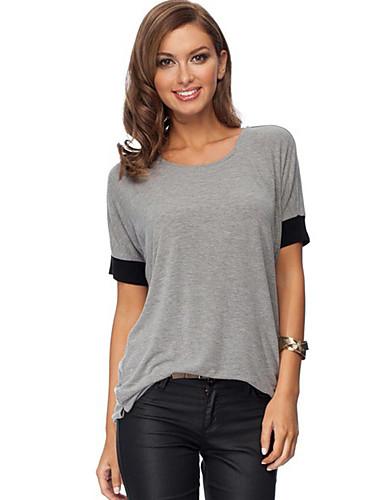 Naisten Color Block Katutyyli T-paita