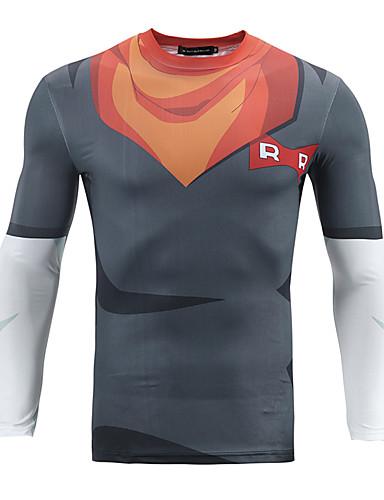 Heren Eenvoudig Informeel Winter Herfst Normaal Blazer, Dagelijks Ronde hals Polyester Print