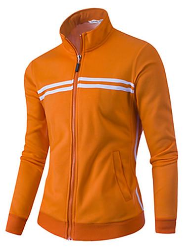Heren Actief Casual/Dagelijks Sweatshirt Effen Opstaand Micro-elastisch Katoen Lange mouw Herfst Winter