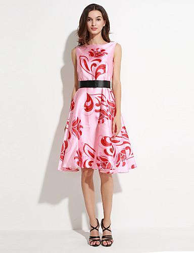 maxlindy Frauen Ausgehen / Cocktail / Urlaub Jahrgang / Straße chic / anspruchsvolle eine Linie Kleid