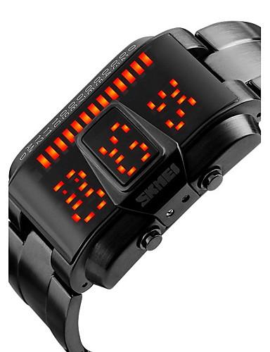 SKMEI Hombre Reloj de Pulsera Calendario / Resistente al Agua / Cool Aleación Banda Lujo / Moda Negro / Plata / Dos año / Maxell CR2025