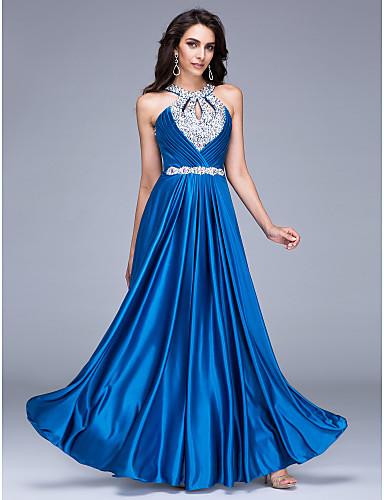 Boncuklu, satrançlı yuvarlak zemin uzunluğu satine resmi gece elbisesi