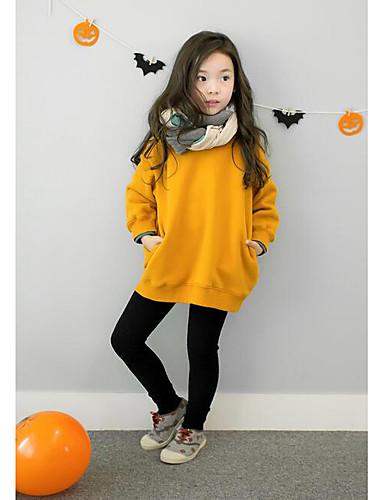 Casual/Dagelijks-Effen-Katoen-Winter / Herfst-Girl's-Hoodie & Sweatshirt-Rood / Geel