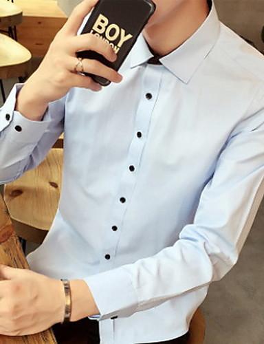 男性用 シャツ シンプル ソリッド コットン