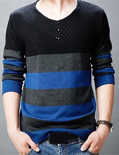 קולור בלוק - סוודר שיק ומודרני בגדי ריקוד גברים