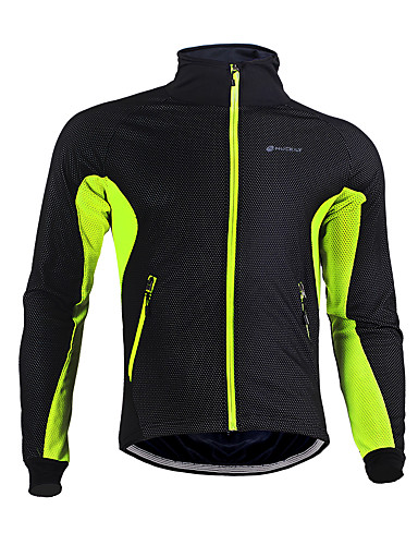 cheap Cycling Clothing-Nuckily Unisex Cycling Jacket Bike Jersey Top Thermal / Warm Windproof Breathable Sports Polyester Fleece Winter Black / Red / Black / Green / Black / Blue Mountain Bike MTB Road Bike Cycling