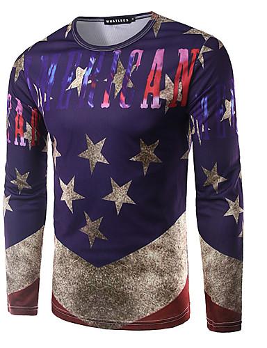 Herrn Galaxis Aktiv Sport T-shirt,Rundhalsausschnitt Herbst Langarm Polyester Dünn