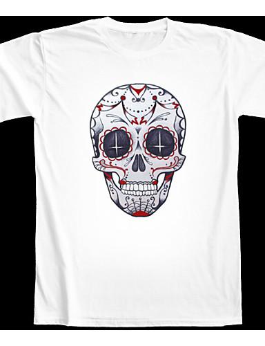 Damen Solide Einfach Lässig/Alltäglich T-shirt,Rundhalsausschnitt Kurzarm Kunst-Pelz