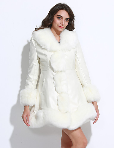 Women's Sophisticated Faux Fur Ruffle V Neck