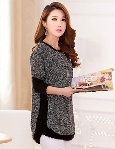 Women's Casual/Cute Stretchy Medium Long Sleeve Pullover (Knitwear)SF7F05