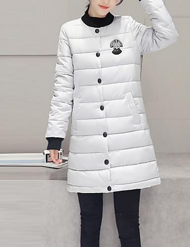 Damen Gefüttert Mantel,Lang Einfach Übergröße Solide Patchwork-Polyester Baumwolle Langarm Ständer
