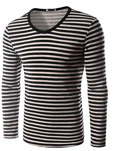 Herren Pullover Lässig/Alltäglich Einfach Solide Rundhalsausschnitt Mikro-elastisch Baumwolle Langarm Herbst Winter