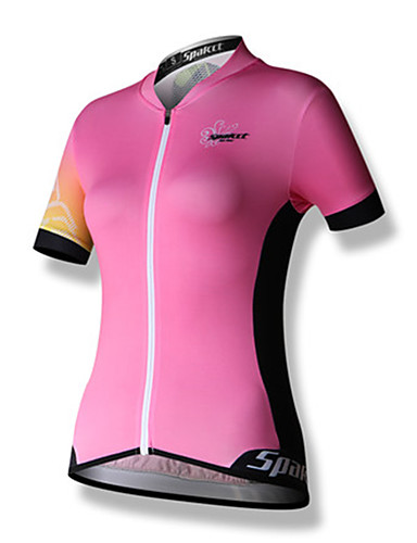 cheap Cycling Clothing-SPAKCT Women's Short Sleeve Cycling Jersey - Blushing Pink Bike Jersey Top Breathable Quick Dry Reflective Strips Sports 100% Polyester Mountain Bike MTB Road Bike Cycling Clothing Apparel / Stretchy
