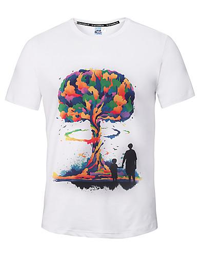 Herrn Strand T-shirt, Rundhalsausschnitt Druck Baumwolle