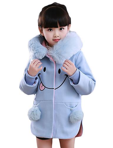 Mädchen Anzug & Blazer Lässig/Alltäglich einfarbig Baumwolle Winter Lange Ärmel
