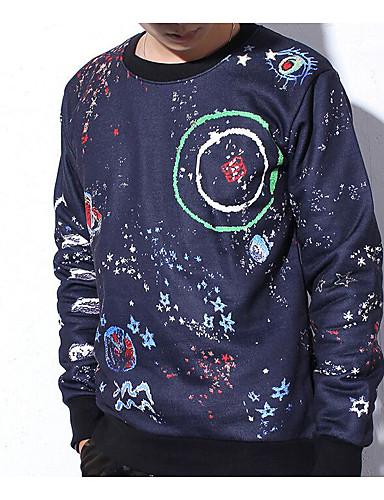 Miesten Pyöreä kaula-aukko Puuvilla T-paita, Galaksi