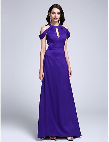 Eng anliegend Schmuck Pinsel Schleppe Stretch - Satin Abiball / Formeller Abend Kleid mit Plissee durch TS Couture®