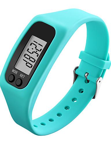Hombre / Mujer Reloj Deportivo / Reloj de Pulsera / Reloj digital Podómetros / LCD / Cool Caucho Banda Negro / Blanco / Azul / Colorido